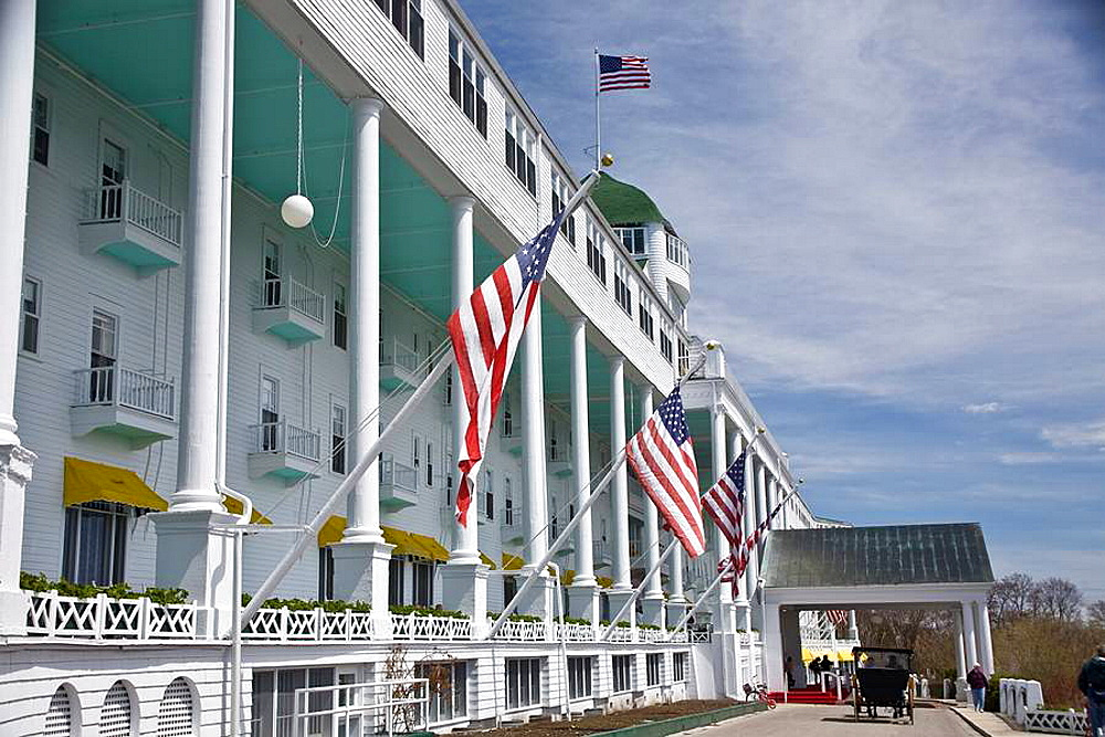 Grand Hotel on Mackinac Island, Michigan, USA