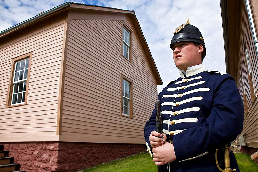 Historic Fort Mackinac an 1880's US Army fort with historic interpreters on Mackinac Island, Michigan