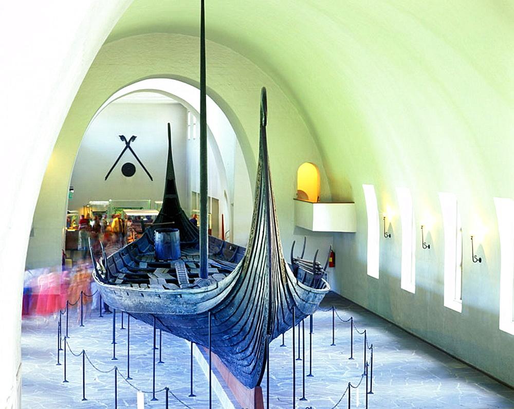 Oseburg ship, Viking ship museum, oslo, Norway.