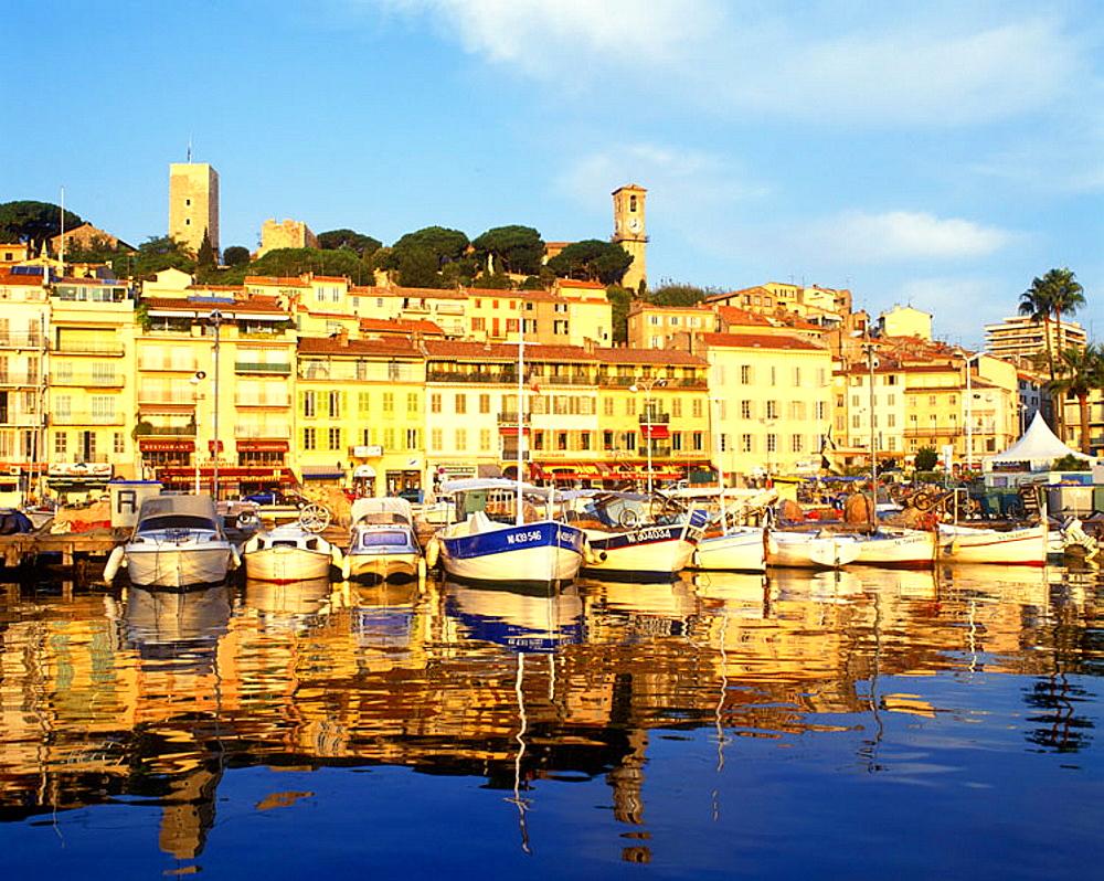 Old port, Cannes, Cote d'azur, Riviera, France.