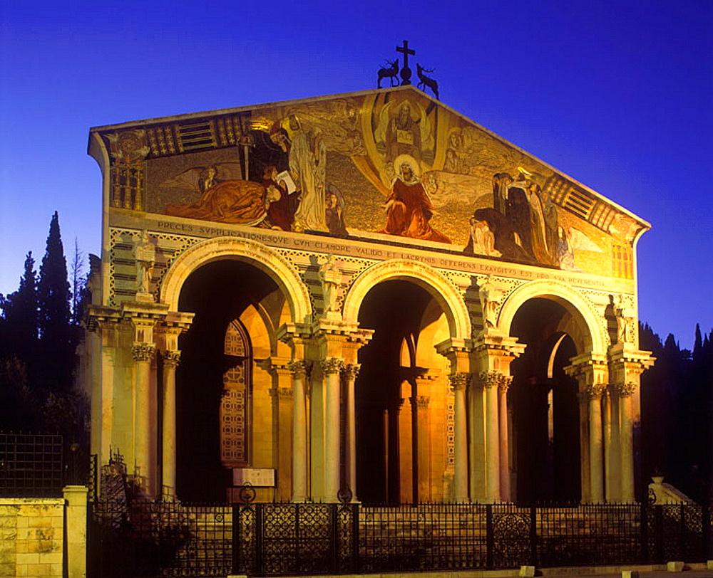 Church of all nations gethsemane, Mount of olives, Jerusalem, Israel.