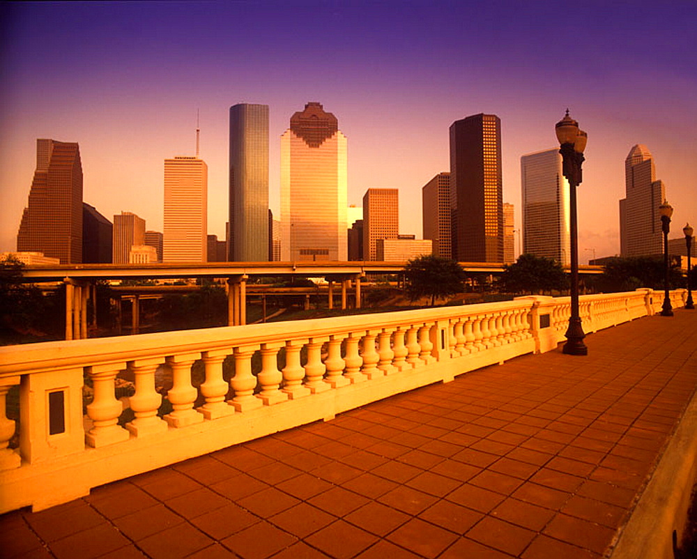 Downtown skyline, Houston, Texas, USA.