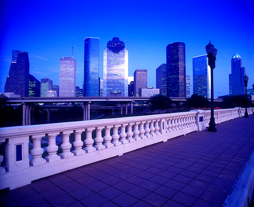 Downtown skyline, Houston, Texas, USA. - 817-57004
