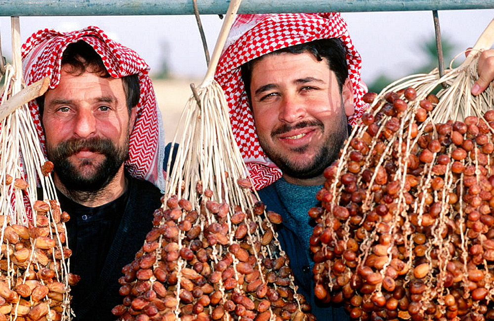 Brothers selling dates, Palmyra, Syria