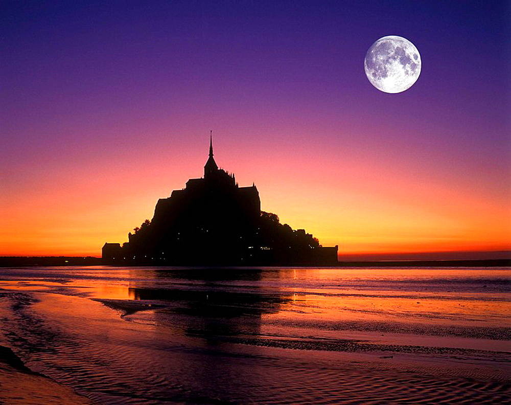 SCENIC MONT SAINT, MICHEL BRITTANY, FRANCE - 817-60570