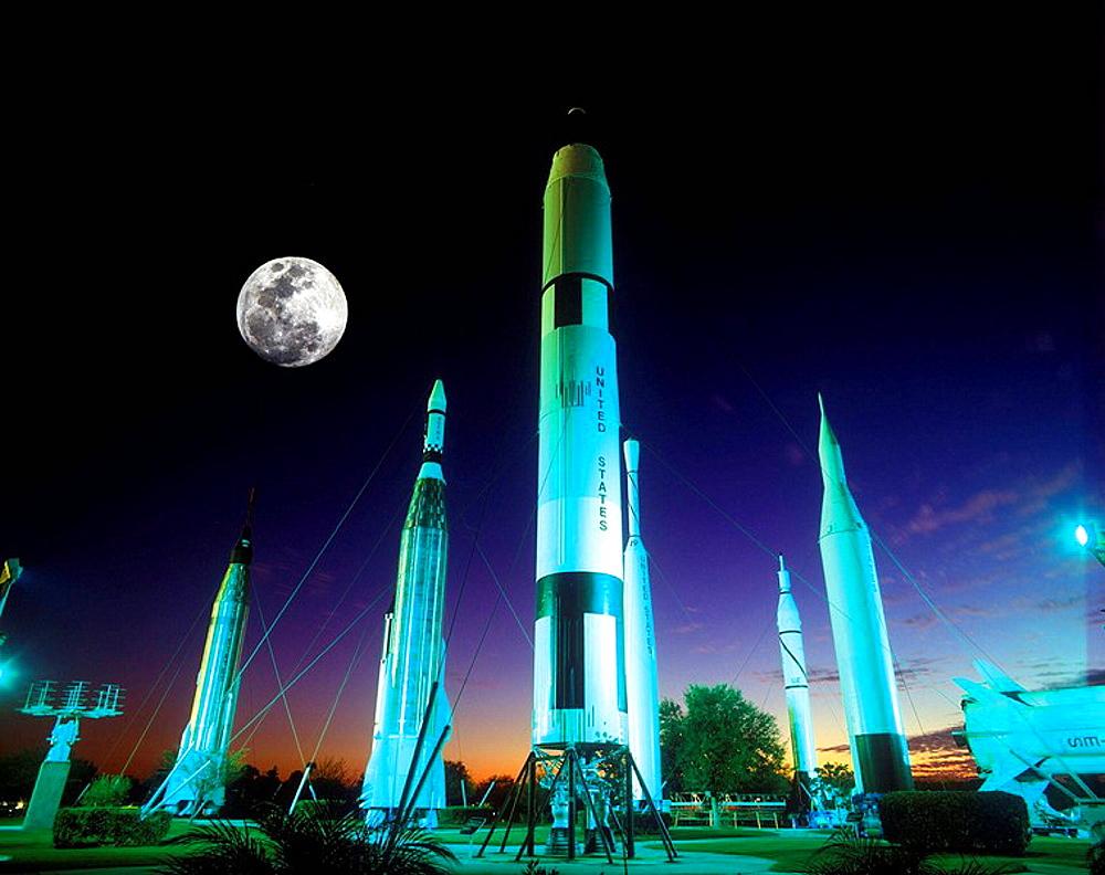 ROCKET GARDEN, KENNEDY SPACE CENTER, FLORIDA, USA - 817-60751