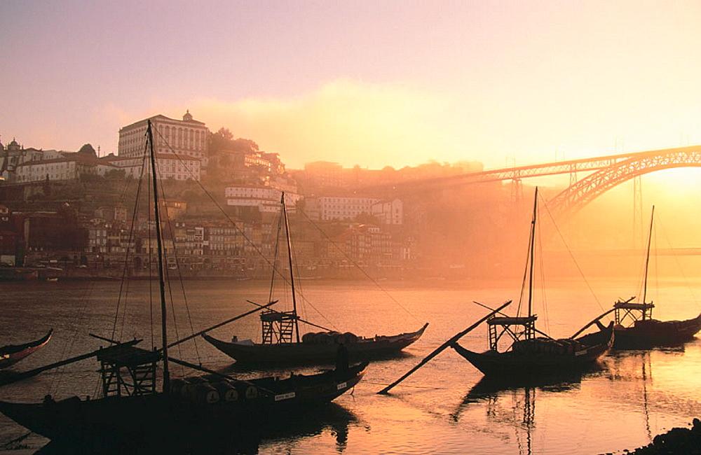 Rabelos (typical ships), Vila Nova de Gaia, Oporto, Portugal