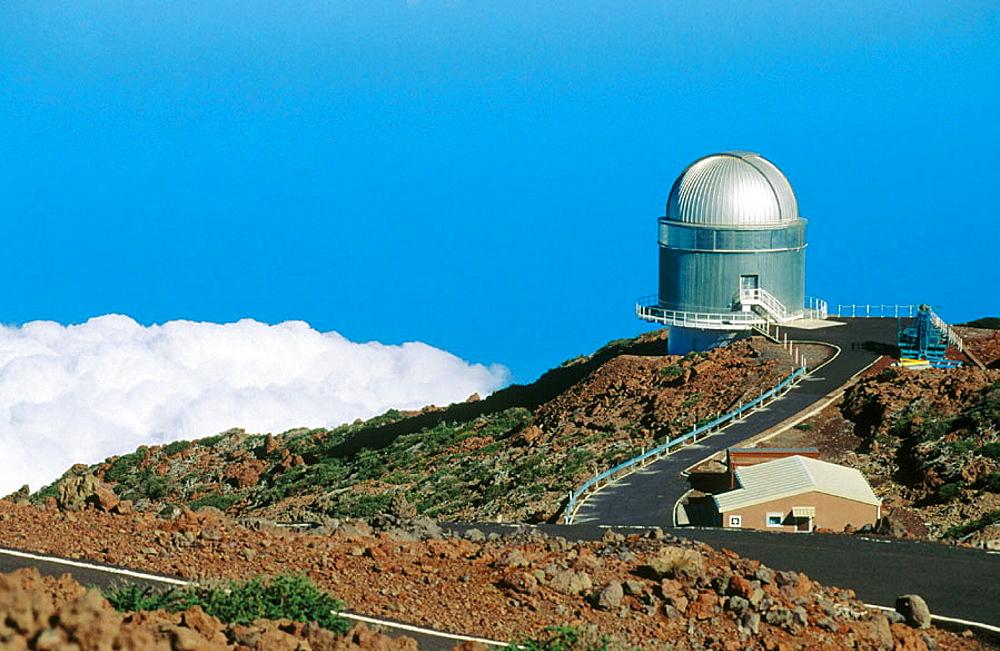 Astronomical observatory in 'El Roque de los Muchachos', La Palma, Canary Islands, Spain