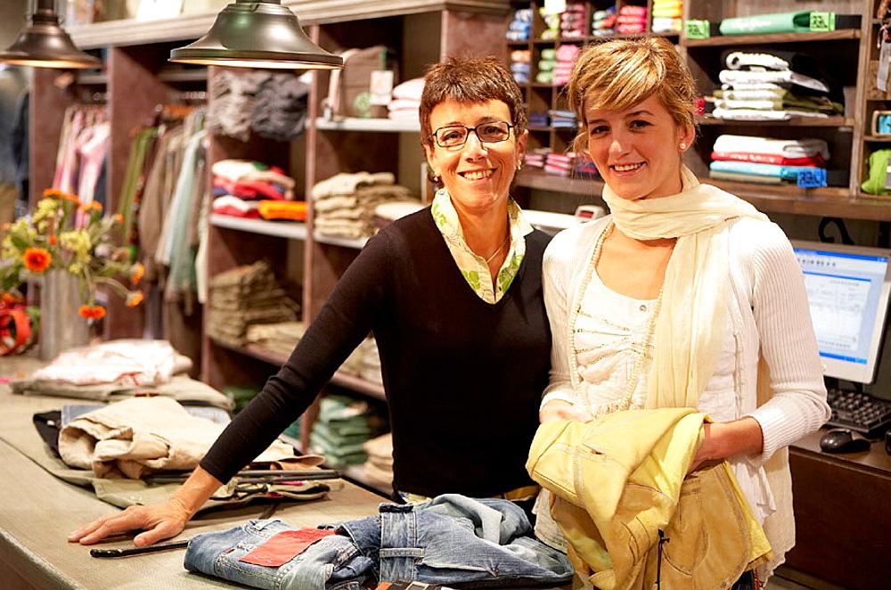 Clothes shop, Elgoibar, Gipuzkoa, Euskadi, Spain.