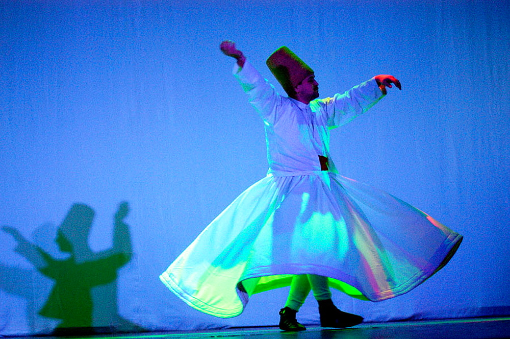 Dervish whirling and dancing, Turkey