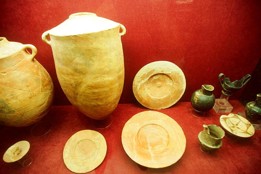 Phoenician remains at museum of Almunecar, Granada province, Spain