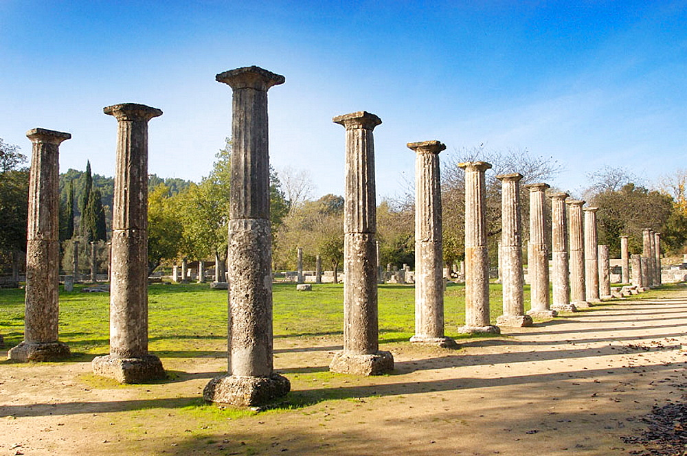 Ruins of ancient Olympia, Peloponnese, Greece