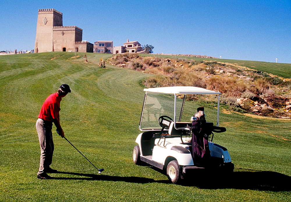 Golf course, Club Marina Golf, Mojacar, Almeria province, Spain