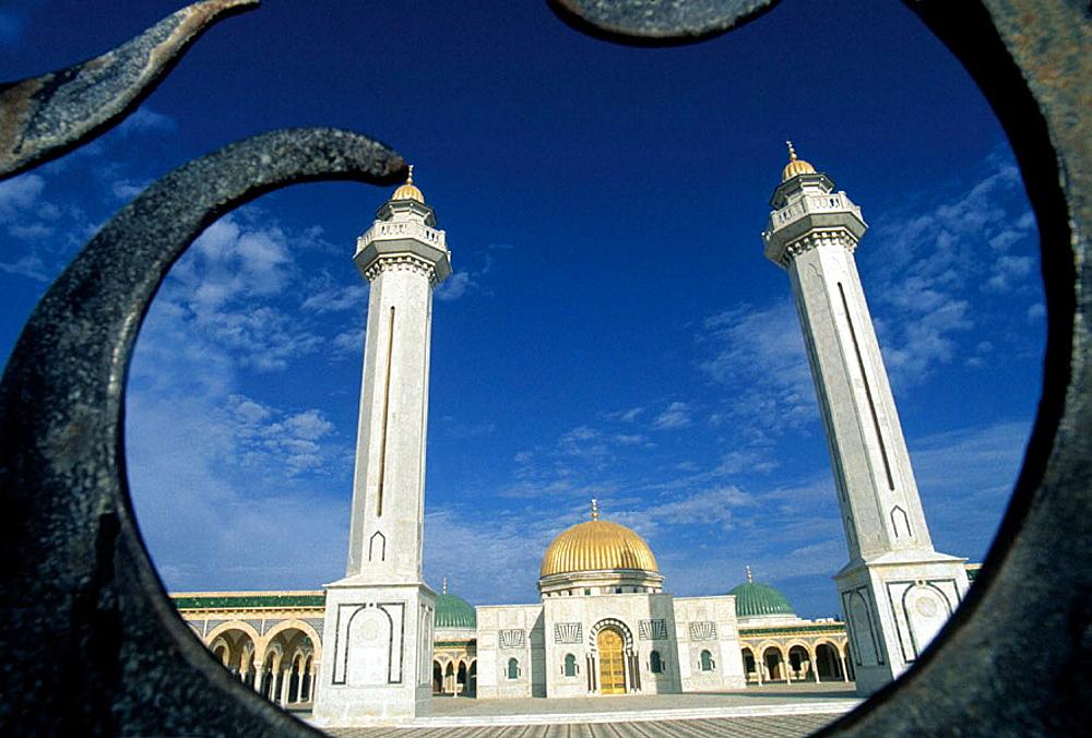 Mausoleum Habib Bourghiba at Monastir, Tunisia.