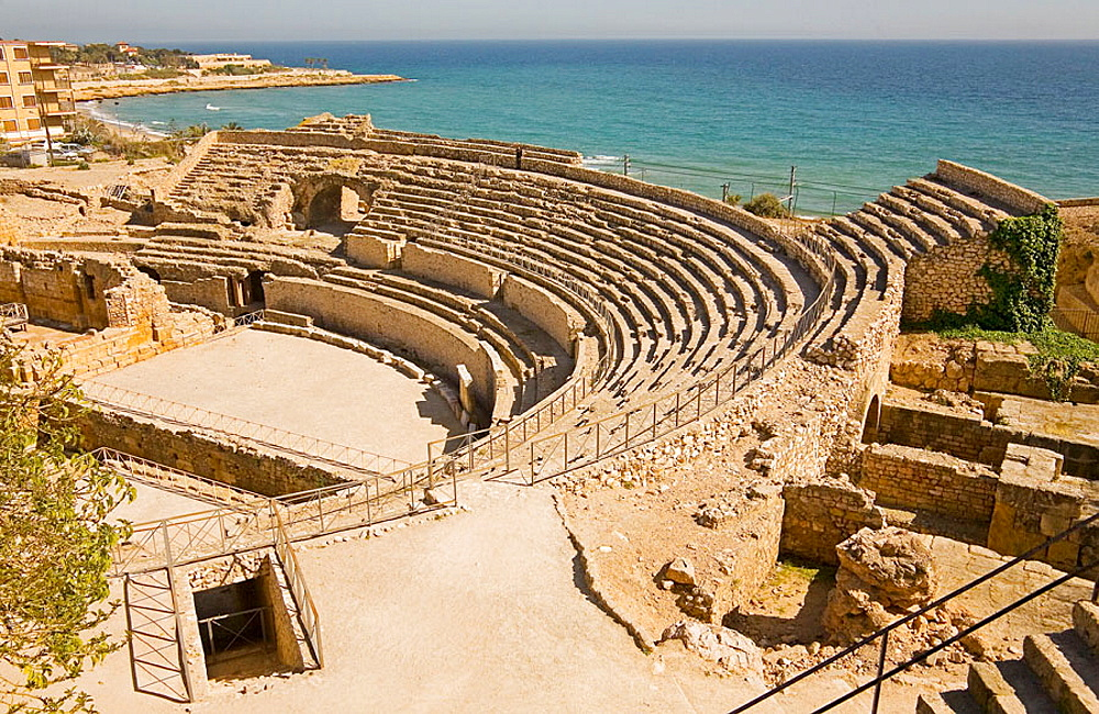 Roman ampitheatre, Tarragona, Catalonia, Spain