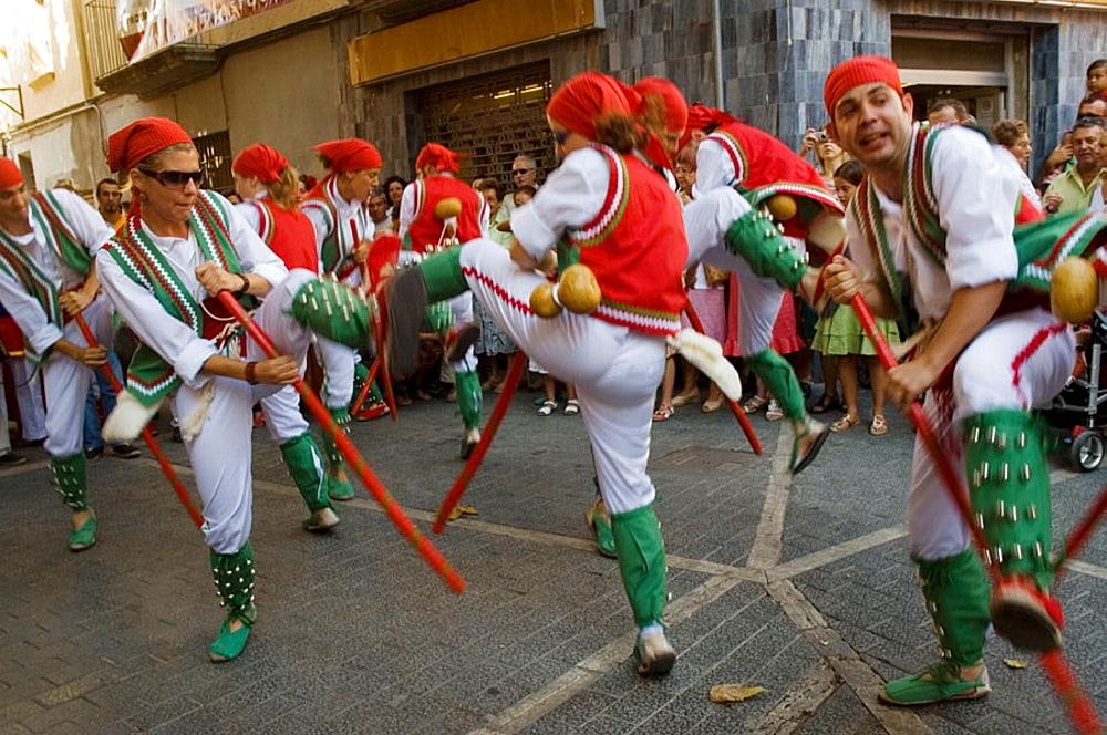 Ball de Pastorets.Fiesta Mayor de Santa Ana, El Vendrell.Baix Penedes.Provincia de Tarragona.Cataluna.Espana.