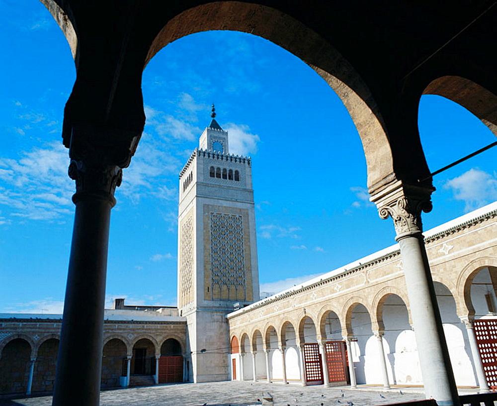 Mosque of the olive tree (El-Zitouna).Tunis, Tunisia.