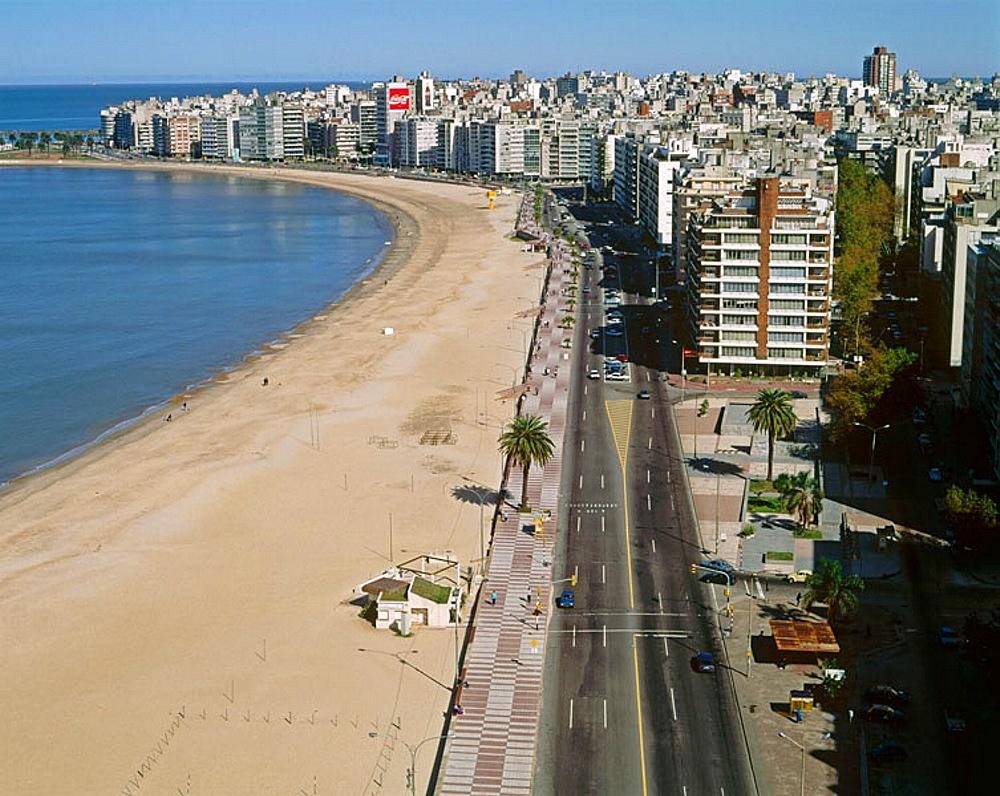 Uruguay, Montevideo, Pocitos beach