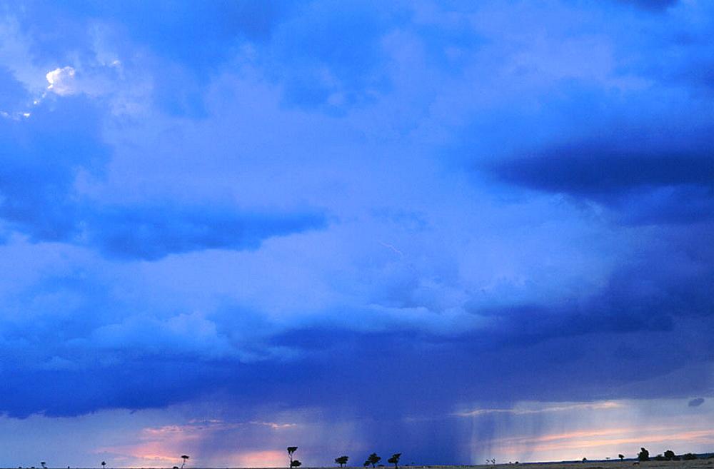 Rainstorm, Masai Mara, Kenya - 817-7313