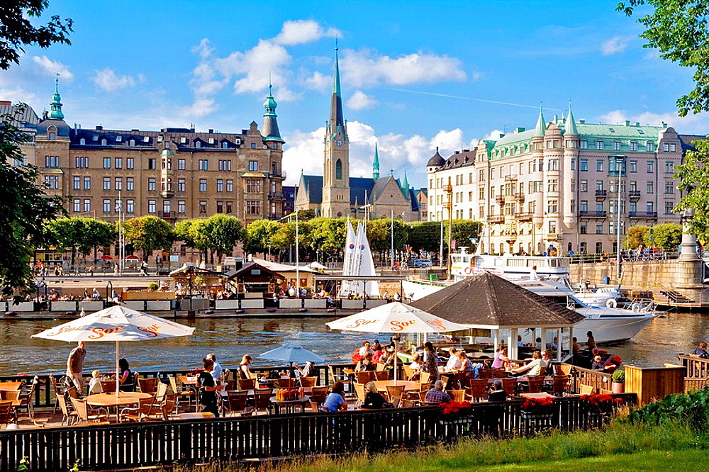 SWEDEN STOCKHOLM  WATERFRONT RESTAURANTS AT DJURGARDEN