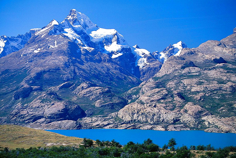 Mountain landscapes by the Upsala glacier, Lago Argentino, Patagonia, Argentina