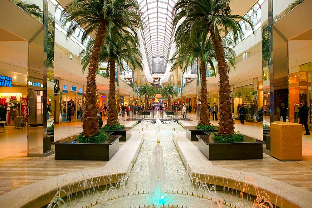 Fountain view, West Edmonton Mall (world's largest), Edmonton, Alberta, Canada