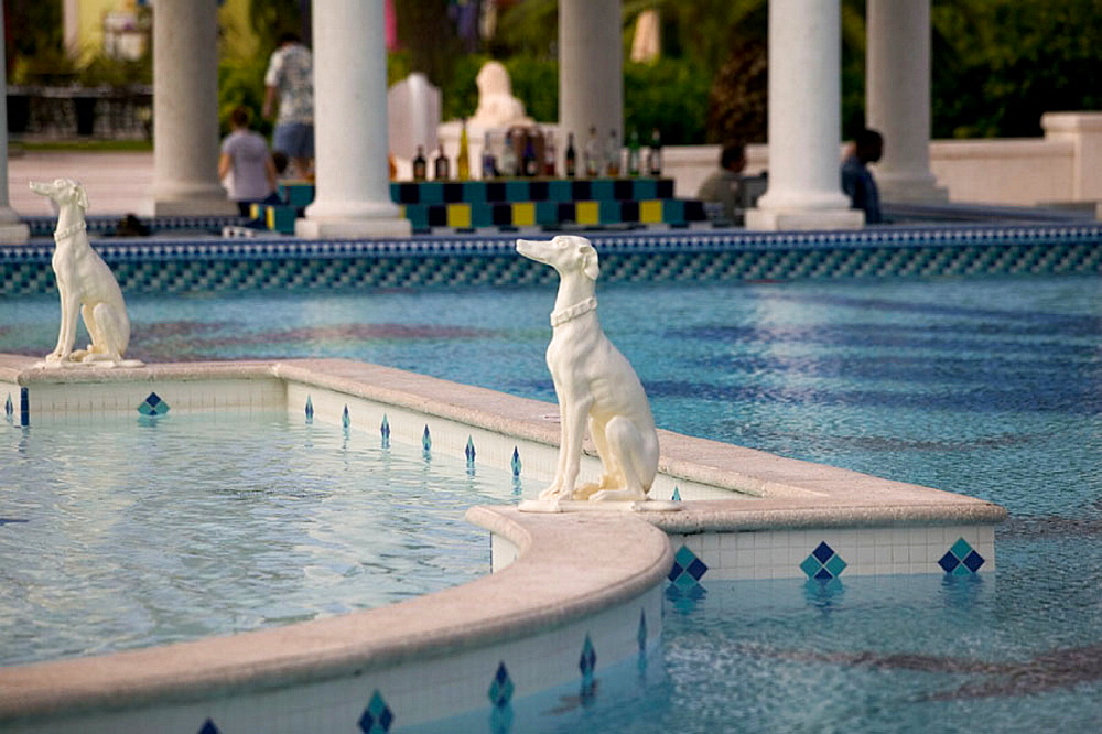Turks & Caicos, Providenciales Island, Grace Bay: Pool Detail, Beaches Hotel Complex