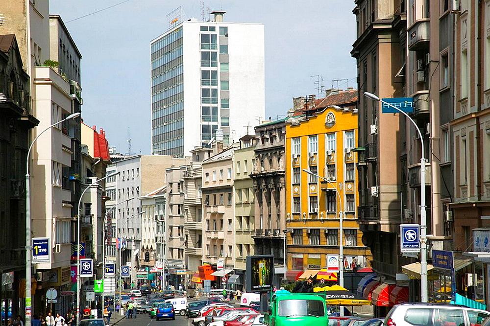Serbia, Belgrade, Prizrenska Street / Morning