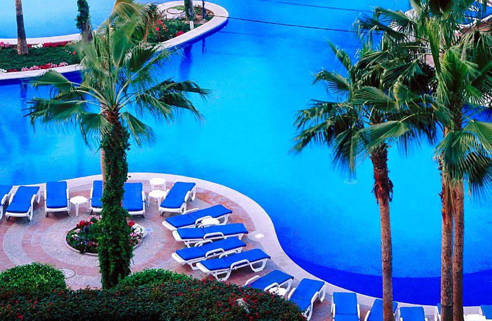 Swimming-pool of Hotel Finisterra, Baja California, Mexico - 817-8321