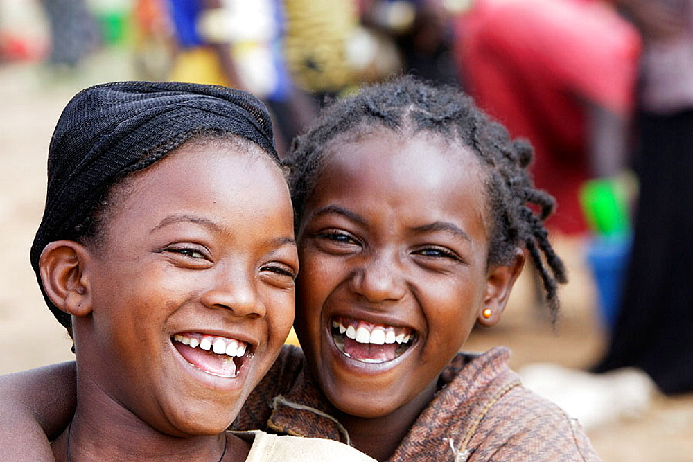 Ari tribe young girls, Key Afer market, Ethiopia - 817-84418
