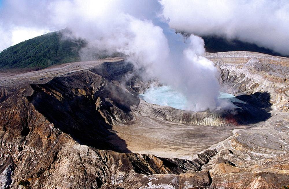 Poas Volcano crater, Costa Rica