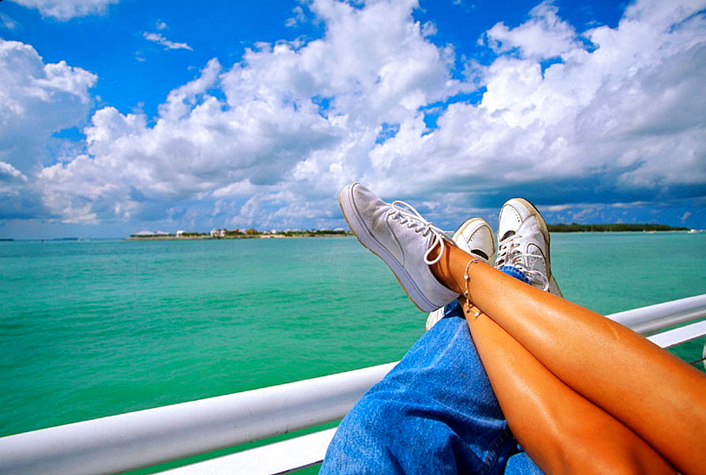 Couple relaxing on their vacation