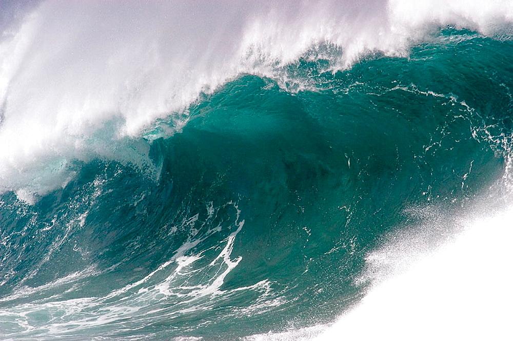 Ocean wave, Oahu, Hawaii, USA