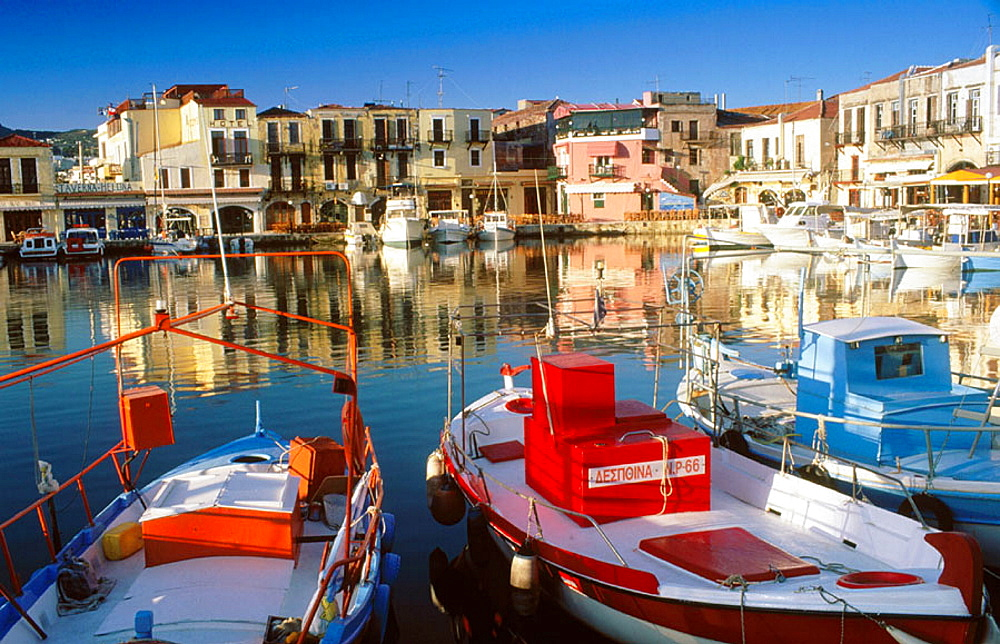 View of Rethymnon, the third largest city on Crete, Greece