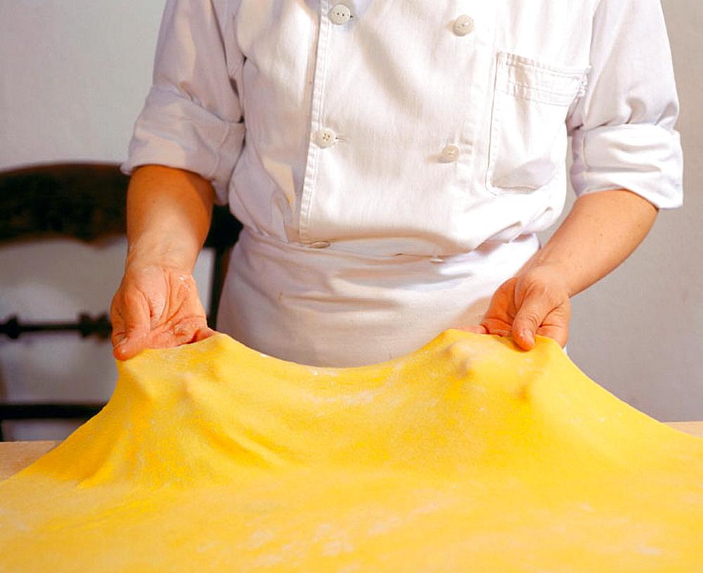 Pasta maker Laura Galli at Giusti's restaurant, Modena, Italy