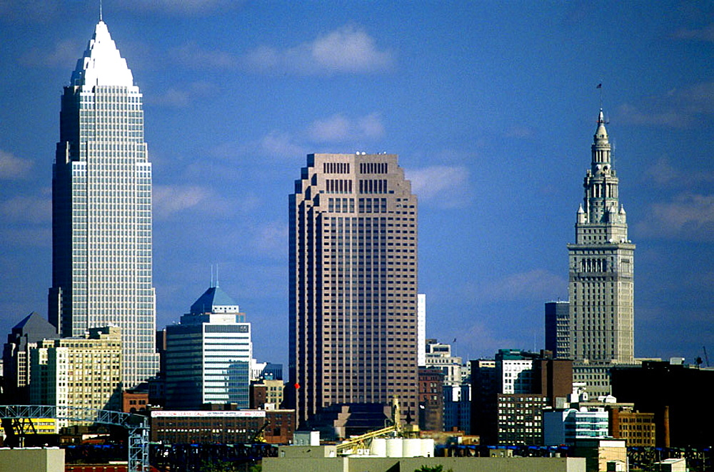 Downtown Cleveland skyline, Ohio, USA