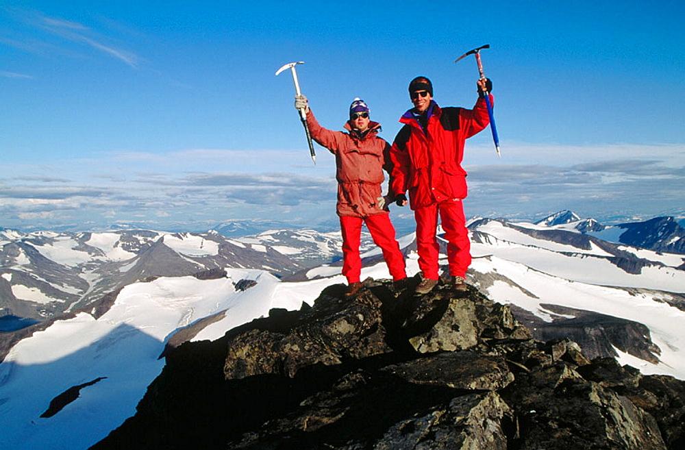 Climbers, Sarek National Park, Lapland, Sweden - 817-9307