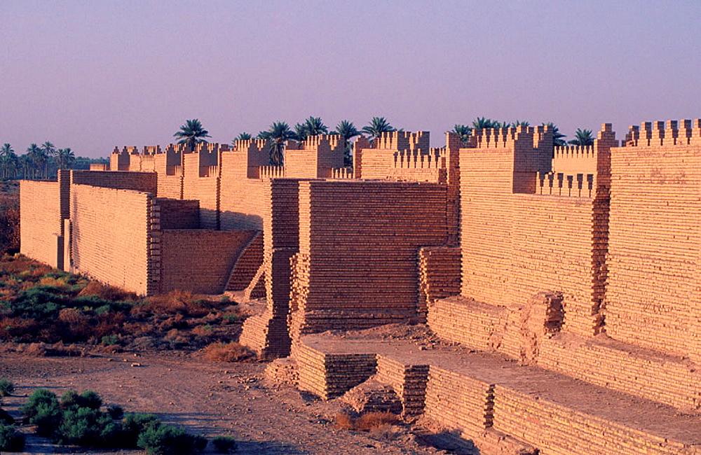 Citywalls, Babylon, Irak