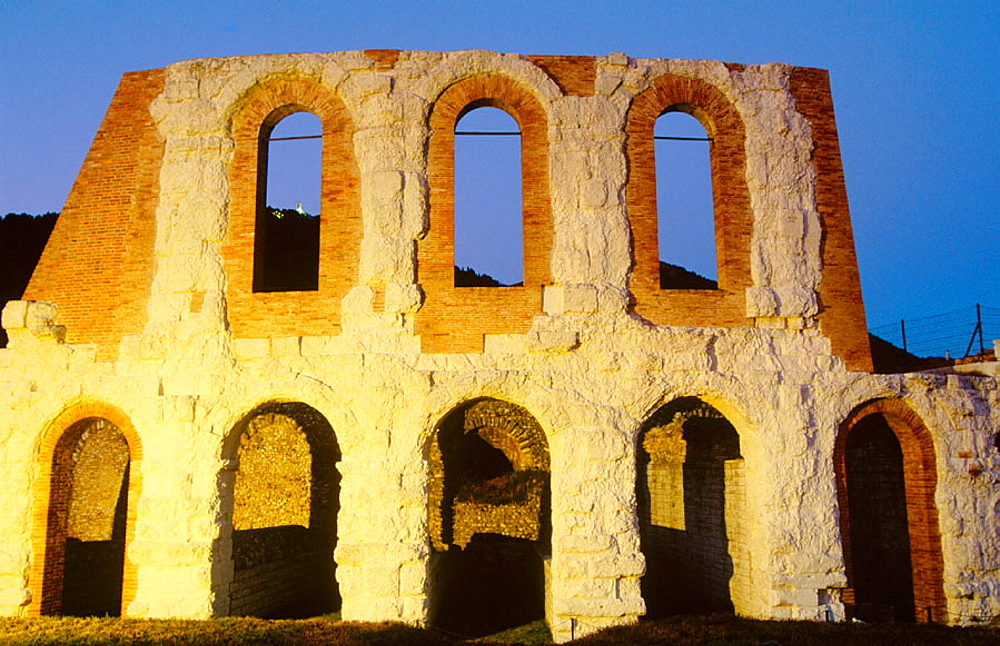 Roman theater (1st century B.C.), Gubbio, Umbria, Italy
