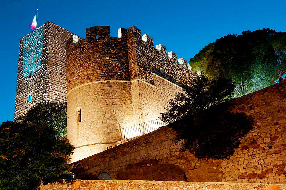 Castle (Xith-XIIth centuries), Cannes, Alpes Maritimes, France.