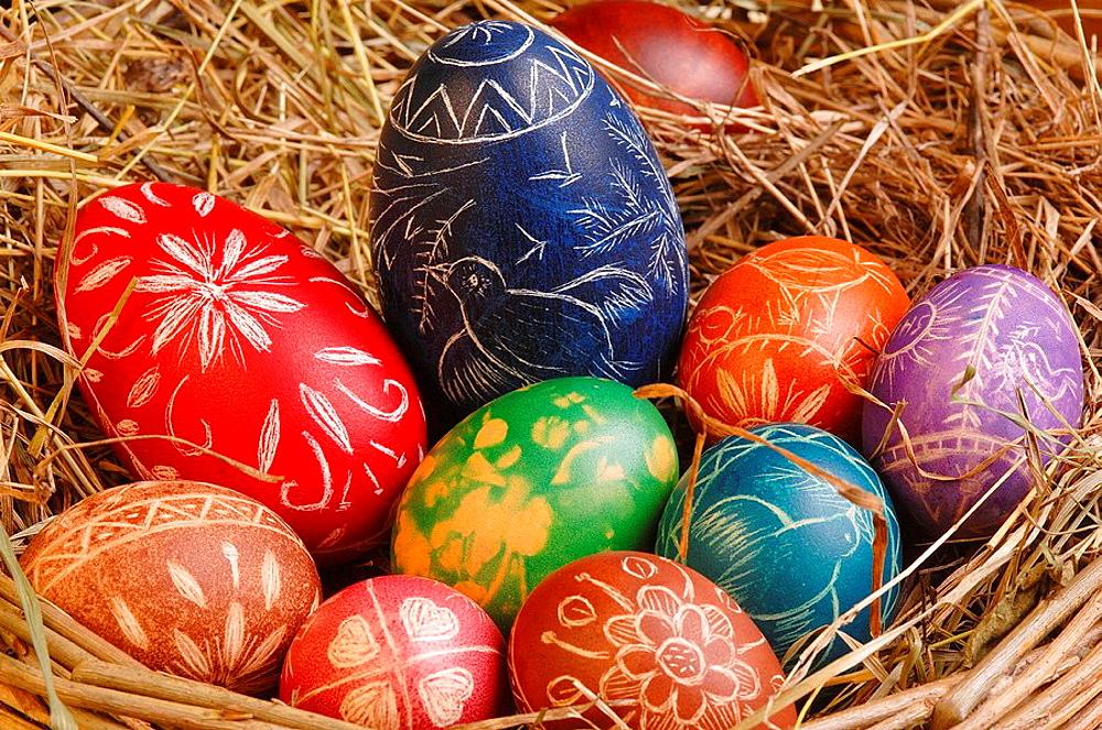 Easter eggs, Drenchia, Friuli-Venezia Giulia, Italy