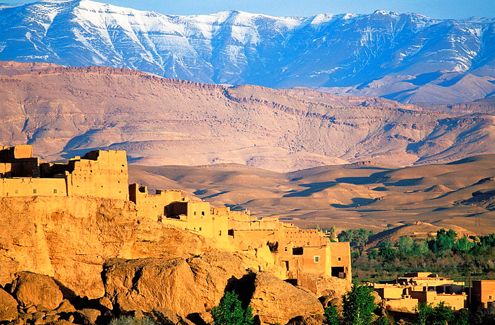Kasbah from Kelaa M'gouna surrounding area, Dades Valley, High Atlas, Morocco
