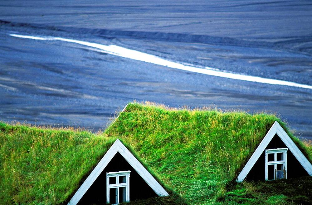 Traditional fams, Skaftafell, Iceland