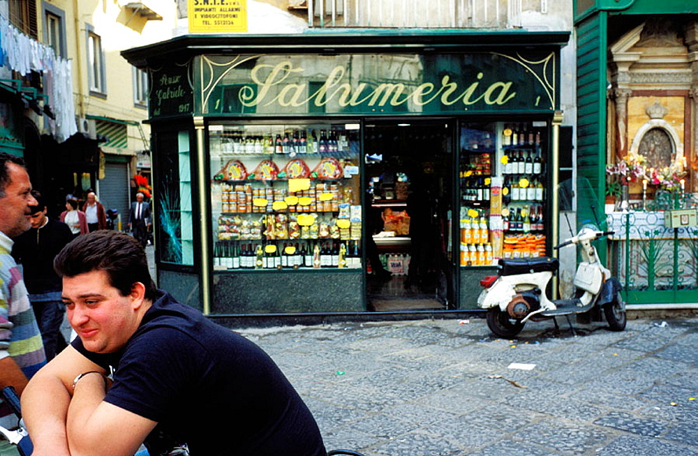 Grocery shop at Spaccanapoli (old town) area, Naples, Italy