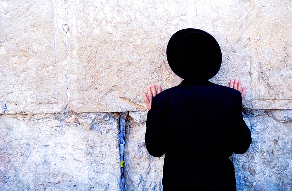 Man at Wailing Wall, Jerusalem, Israel