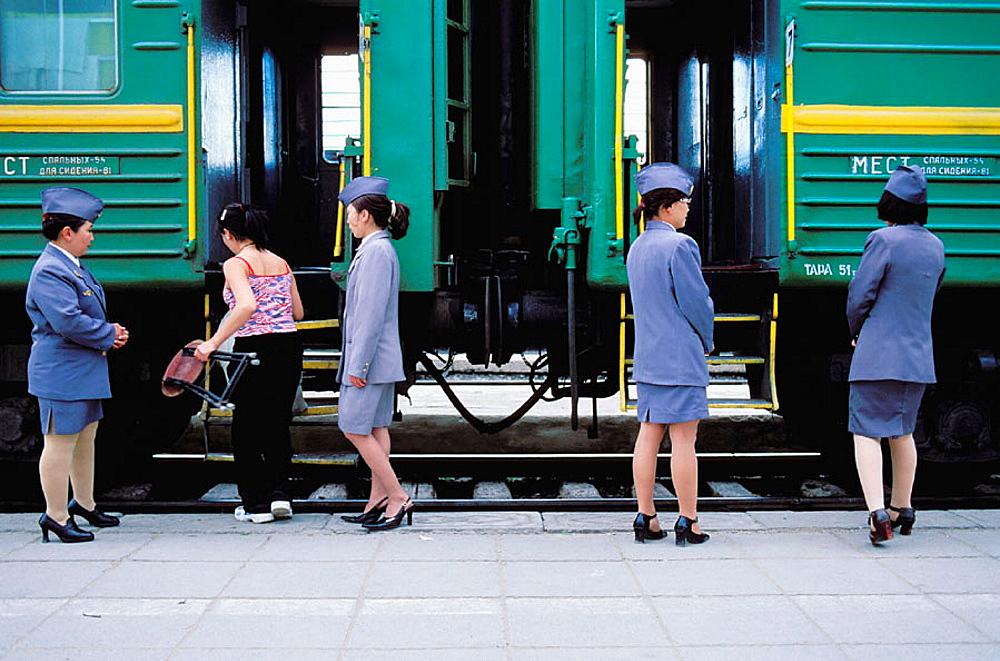 Trans-Siberian, Trans-Mongolian Railroad, Oulaan Bator, Mongolia