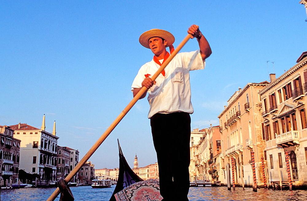Gondolier, Venice, Italy - 817-96093