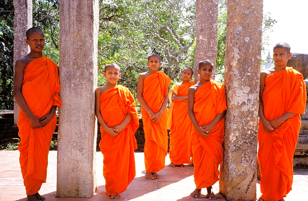 Sri Lanka, Novice monks at Anuradhapura