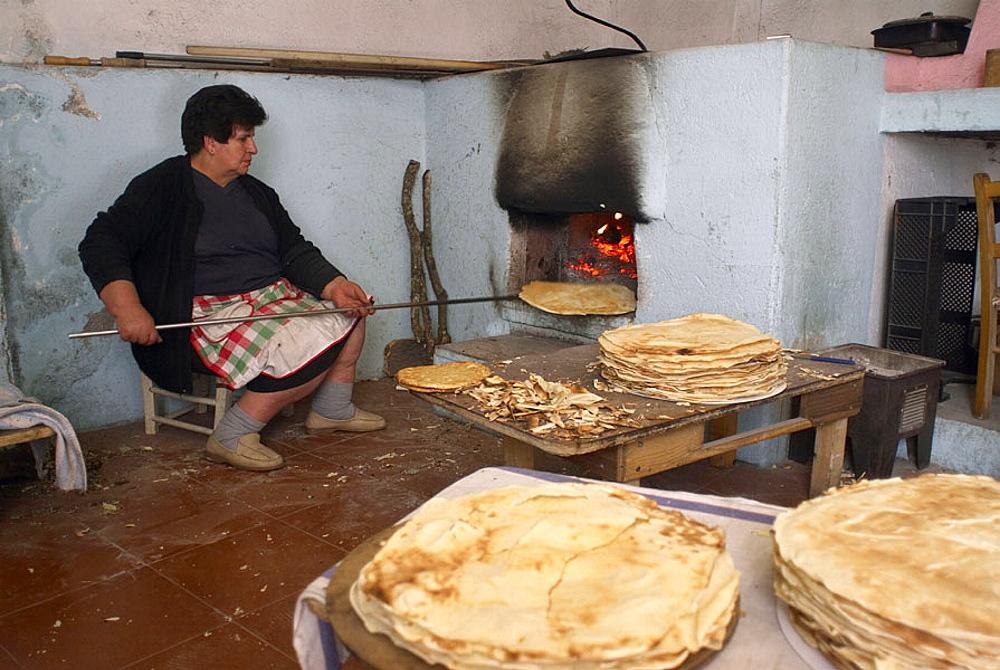 Traditional baked bread, Mamoiada, Nuoro province, Sardinia, Italy