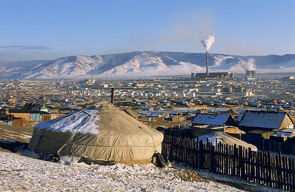 Mongolia, Ulan Bator suburb.